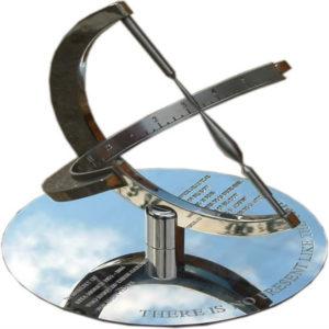 stainless steel sundial