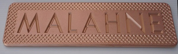Malahne tender engraved bronze name plate