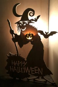 Happy Halloween witch silhouette