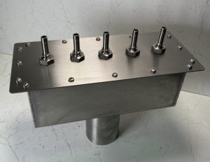 Stainless steel plenum chamber for gas extract manifold system