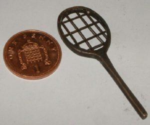 tiny bronze tennis racquet for tiffany statue