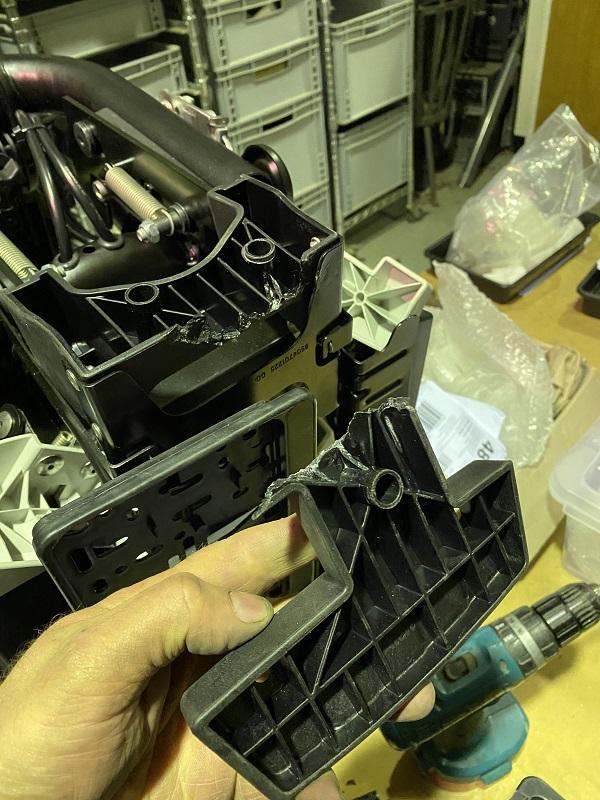Modification and repair to an Altera Genio Pro bike rack