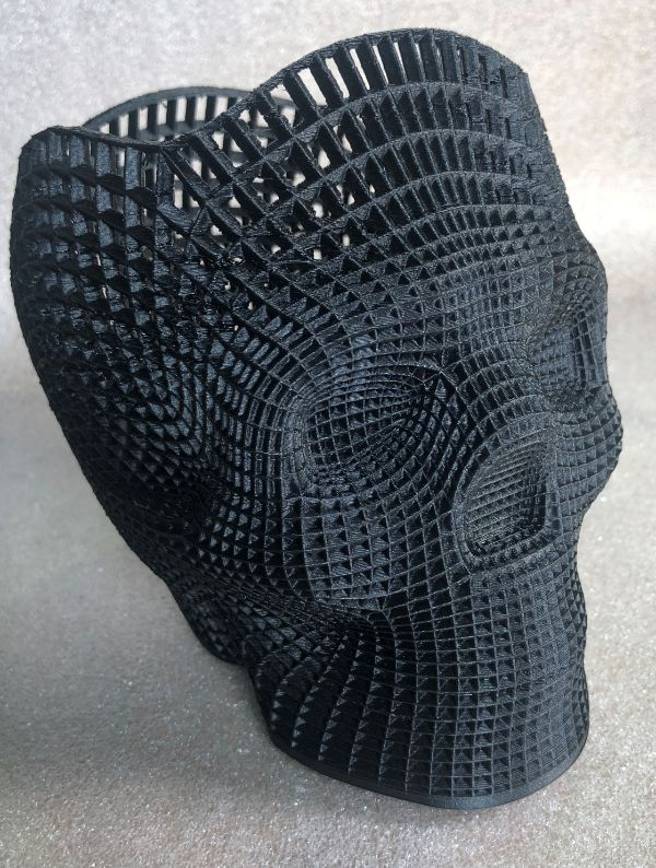 carbon fiber 3d printed skull