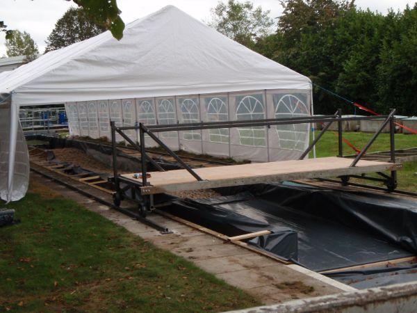 Rolling platform gantry installed