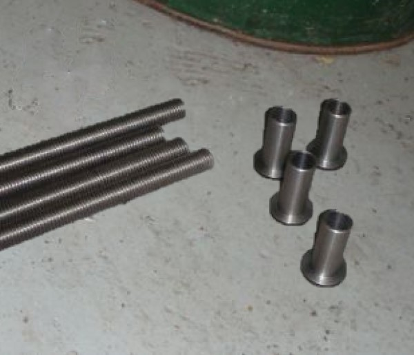 Some Machined components for the rolling platform wheels
