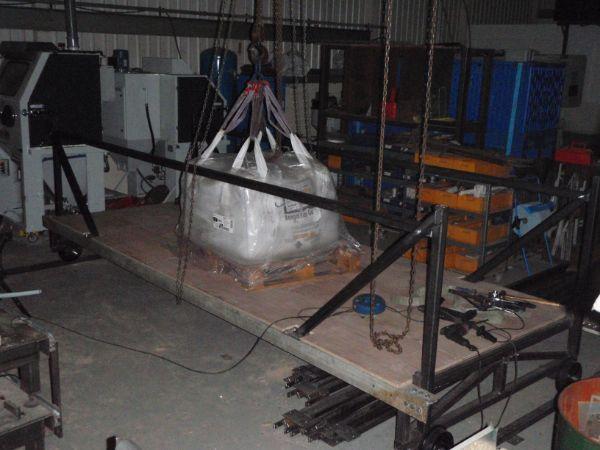 load testing the rolling platform gantry