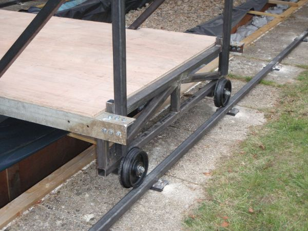 steel train wheels for the rolling platform on the steel track