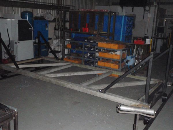 the start of the rolling platform build