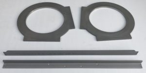 Stainless steel angle and waterjet cut parts milling machined